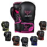 Jayefo Glorious Boxing Gloves (Black/Pink, 16 OZ)