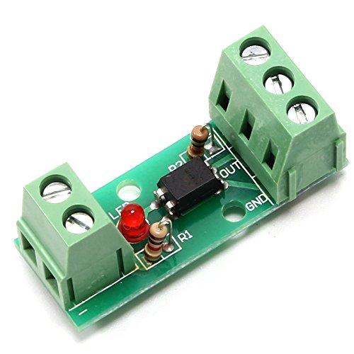 Optocoupler Modulo Isolamento, Modulo Isolamento Fotoaccoppiatore Segnale Livello Tensione Convertitore Isolato PC817 EL817 12V 80KHz 1 Canale Isolato Scheda Rail Holder PLC Processori