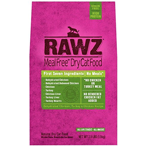 Rawz Meal Free Dry Cat Food Dehydrated Chicken, Turkey Chicken Recipe (3.5 lb)