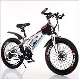 YXWJ Mountain bike for adulti a velocità variabile assorbimento di scossa vernice verniciato freno a disco della bicicletta Assorbimento fuori strada della montagna della bicicletta 20 pollici 22 poll