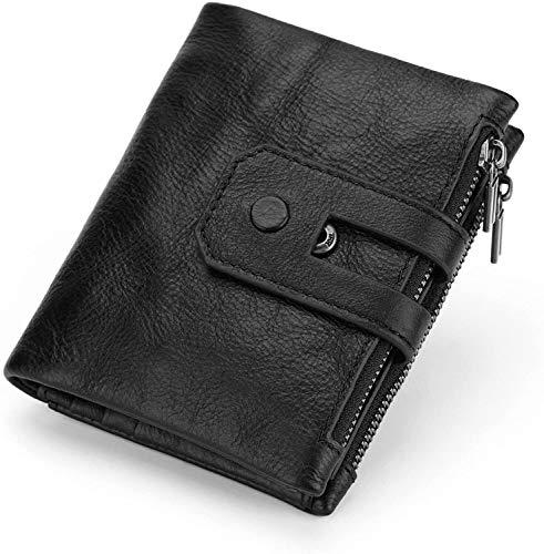 Monedero, bolso de embrague, monedero de cartas, carteras de tarjetas de crédito, protector de tarjetas Modelos de la cartera corta de cuero de cuero posicionamiento monedero monedero rfid Bloqueo des