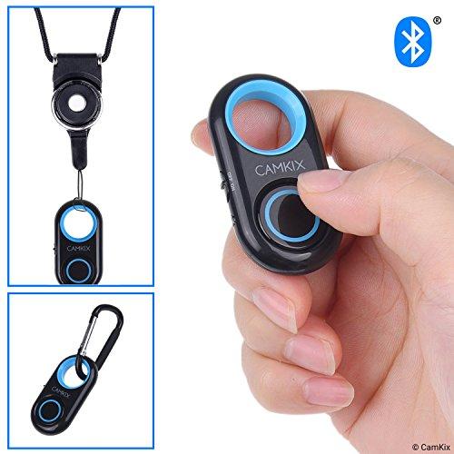 Kamerablenden-Fernbedienung mit Bluetooth®-Technologie - Schlüsselband mit Abnehmbarer Armatur - Karabiner - Erfassen Sie Bilder/Videos drahtlos aus bis zu 10 m Entfernung auf iPhone/Android