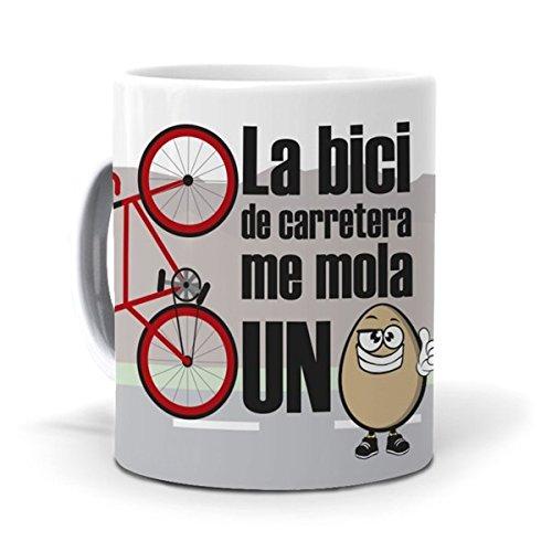 mundohuevo Taza La Bici de Carretera me Mola un Huevo Version