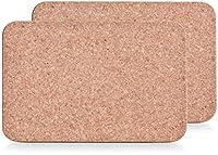 zeller 2300 sottopentola, sughero, beige, 29.5x19.5x1.9 cm, 2 unità