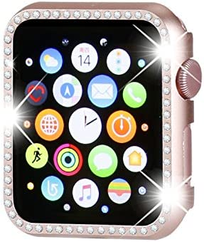 Henstar Compatible with Apple Watch Case 44mm iWatch Face Bling Crystal Diamonds Plate Cover product image