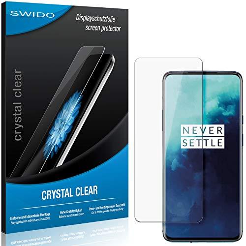 SWIDO Schutzfolie für OnePlus 7T Pro [2 Stück] Kristall-Klar, Hoher Festigkeitgrad, Schutz vor Öl, Staub & Kratzer/Glasfolie, Bildschirmschutz, Bildschirmschutzfolie, Panzerglas-Folie