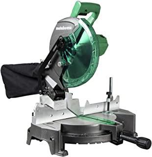 Metabo HPT Compound Miter Saw, 10-Inch, Single Bevel, 15-Amp Motor, 0-52° Miter Angle..