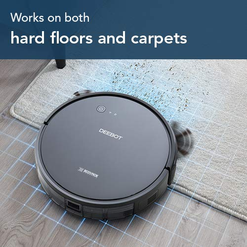 ECOVACS DEEBOT 601 Robot Vacuum Cleaner with S-Shaped Systematic Movement, App Controls, Max Mode Power Suction & 2 Specialized Cleaning Modes for Pet Hair, Thin Carpets & Hard Floors