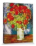 1art1 Vincent Van Gogh - Jarrón con Amapolas Rojas, 1886 Cuadro, Lienzo Montado sobre Bastidor (50...