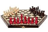 Master Of Chess X-Large 54 x 47cm Juego de ajedrez de madera para 3 jugadores