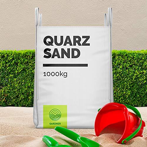 Quarzsand - Spielsand weiß, in sehr feiner Körnung, der Standard für Sandkasten, kostenlose Lieferung, 1000kg im praktischen BigBag