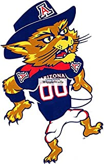 6 Inch Wilbur Wildcat Football University of Arizona UA Wildcats AZ Removable Wall Decal Sticker Art NCAA Home Room Decor 4 by 6 Inches