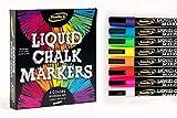 Best Chalk Markers - Liquid Chalk Markers - 8 Vibrant colors, erasable Review