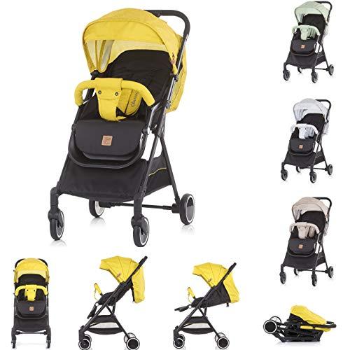 Chipolino, silla de paseo Clarice respaldo plegable ajustable toldo de sol, color:amarillo
