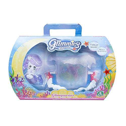 Giochi Preziosi - Glimmies Aquaria Glimquarius e Glimmies Esclusiva Olaya, Mini Playset