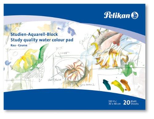 Pelikan 251041 - Blocco da acquerello per studenti SR3, 20 fogli, 30 x 40 cm