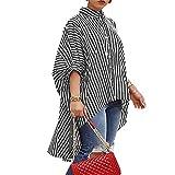 Derrick Aled(k) zhuke Camisas Sueltas De Rayas para Mujer Camisas De Falda Grande Sueltas A Rayas