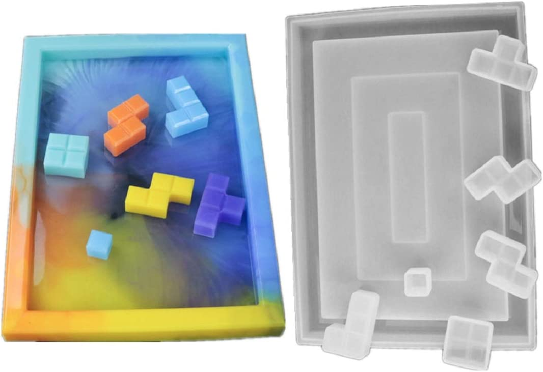Yalulu Cube Tray Silicone Molds Handcraft DIY Mold Chicago Mall Casting Inventory cleanup selling sale Resin