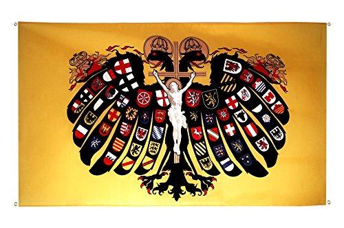 Flaggenfritze® Balkonflagge Heiliges Römisches Reich Deutscher Nation Quaterionenadler - 90 x 150 cm
