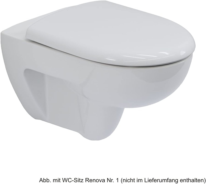 Keramag Renova Nr. 1 Wand-WC mit Spülrand, wei, Tiefspül-WC