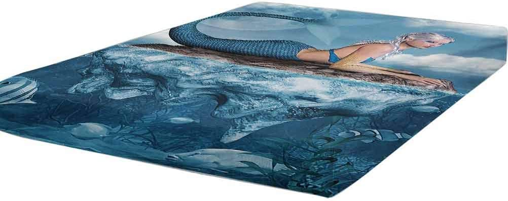 Our shop OFFers the best service Mermaid Bedding Fitted Sheet Twin Size Art Me a of Graphic Print Detroit Mall