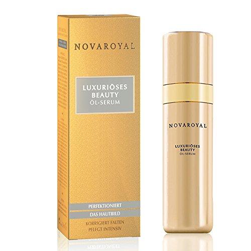 NOVAROYAL® Beauty Öl-Serum | Anti Aging Gesichtspflege | prämierter Wirkstoff gegen Falten um Nase und Mund | Top-Pflege mit Abyssinian-Öl, natürlichen Ceramiden, Kaviar-Extrakt und Perlen-Hydrolysat
