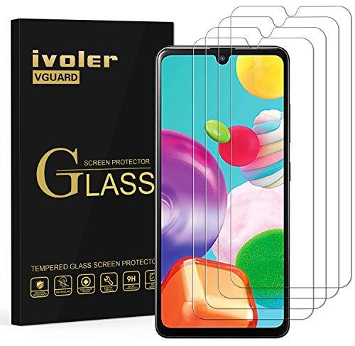 ivoler 4 Stücke Panzerglas Schutzfolie für Samsung Galaxy A41, Panzerglasfolie Folie Displayschutzfolie Hartglas Gehärtetem Glas DisplayPanzerglas Displayschutz für Samsung Galaxy A41