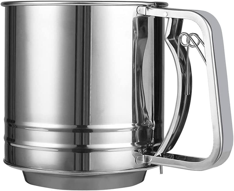 Flour Sifter for Baking Stainless Double Small with Steel Super beauty product restock quality Translated top Sieve