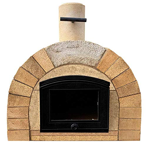 PUR Schamotte Tuscany XXL with cast door, pizza oven kit + instructions (English language not guaranteed), wood oven/stone oven, building your own garden