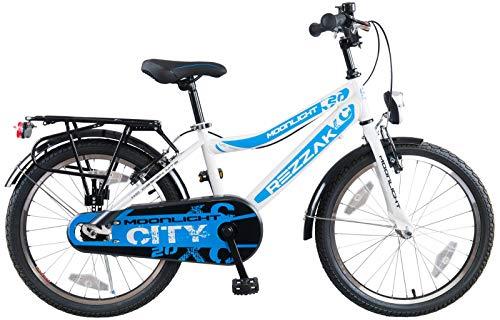 Rezzak 20 Zoll Jungenfahrrad Fahrrad Kinderfahrrad Jungen Rücktrittbremse RH 33 Weiss Blau NEU -042