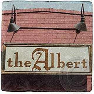 The Albert, Inman Park, Atlanta Marble Stone Coaster.Mix and Match To Make A Set.