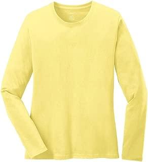 Joe's USA Ladies Long Sleeve 5.4-oz 100% Cotton T-Shirts in 16 Colors. XS-4XL
