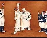 Fat Chef Wallpaper Border Bm9010b Cafe Kitchen Italian Chef Decor by York