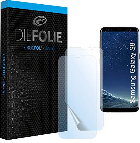 Crocfol Schutzfolie vom Testsieger [2 St.] kompatibel mit Samsung Galaxy S8 - selbstheilende Premium 5D Langzeit-Panzerfolie - für vorne, hüllenfreundlich