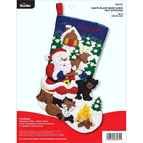 Bucilla Felt Stocking Applique Kit, 18