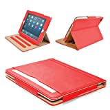 """MOFRED® Red & Tan Apple iPad Air (Launched November 2013) Executive Leather Case-Voted by """"The Daily Telegraph"""" as #1 iPad Air Case! (For iPad Models A1474,A1475,A1476)"""