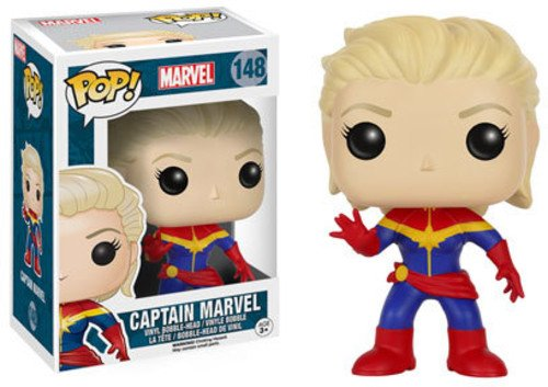 Funko POP! Marvel: Capitana Marvel sin máscara