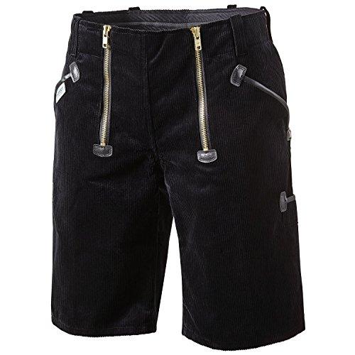 Pionier 2178-48 Shorts Herforder Zunft Cord, Schwarz, Größe 48