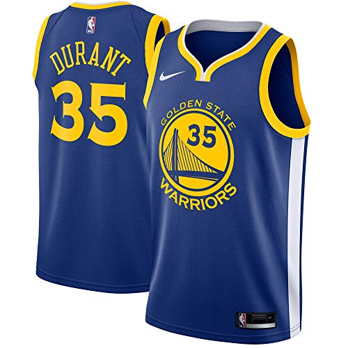 Nike Kevin Durant Golden State Warriors NBA Youth Royal Blue Road Icon Edition Swingman Jersey (Youth Large 14-16)