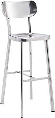 Gray//Leather Touch Black Impacterra Bay Point 30 Bar Height Swivel Stool