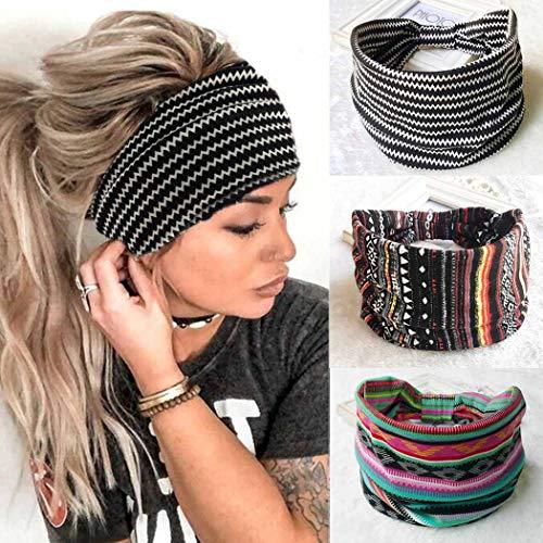 Zoestar Boho Wide Stripe Headban...