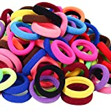 120 Pcs Baby Hair Ties,Cotton Toddler Hair Ties for Girls and Kids,Multicolor Small Seamless Hair Bands Elastic Ponytail Holders(15 Colors )