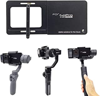 Plate Adapter Board for GoPro Hero 8 7 6 5 4 3+ / Xiaomi/SJCAM, Cochanvie Aluminum Alloy Action Cam Switch Plate for DJI O...