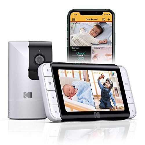 Product Image of the KODAK Cherish C525 Video Baby Monitor with Mobile App - 5 inch HD Screen -...