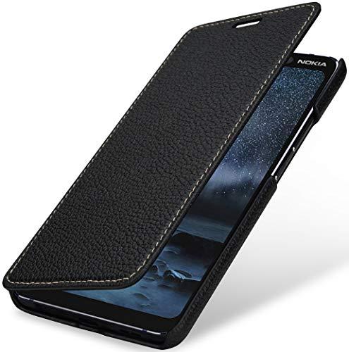 StilGut Book Hülle kompatibel mit Nokia 9 PureView Hülle aus Leder zum Klappen, Klapphülle, Handyhülle, Lederhülle - Schwarz