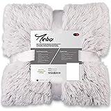 CelinaTex Minka Bettwäsche 200 x 200 cm 3teilig Longhair Felloptik Bettbezug Creme weiß grau