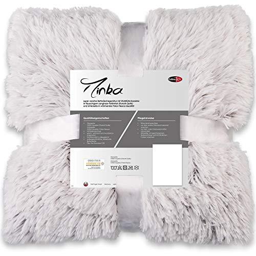 CelinaTex Minka Bettwäsche 135 x 200 cm 2teilig Longhair Felloptik Bettbezug Creme weiß braun