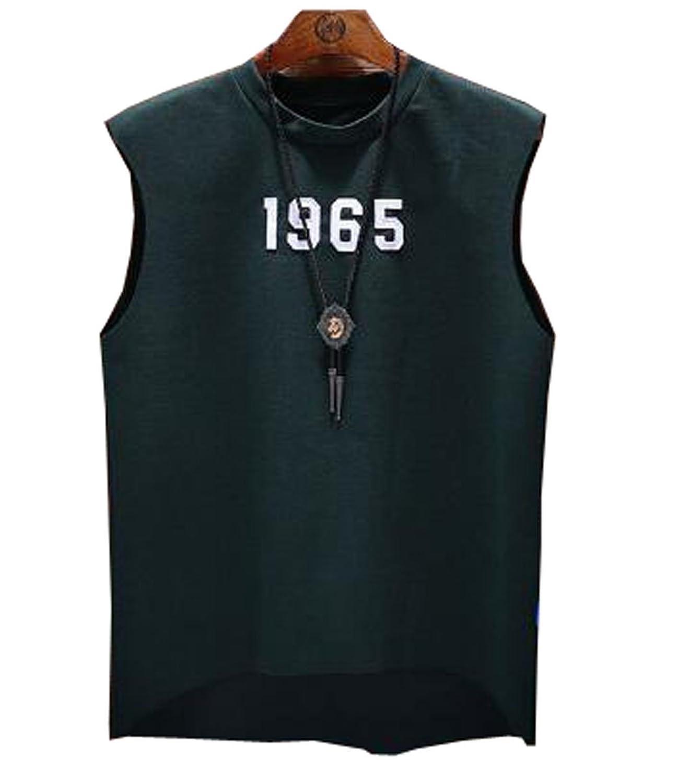 (グードコ) メンズ タンクトップ トレーニング ノースリーブ パーカー 半袖 スポーツ 吸汗 速乾 ベスト ゆったり カジュアル 薄手 修身