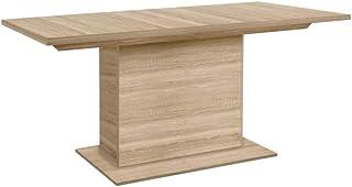 Meubletmoi Table rectangulaire Extensible 160/200 cm décor Bois chêne Clair - Design Contemporain - Palma