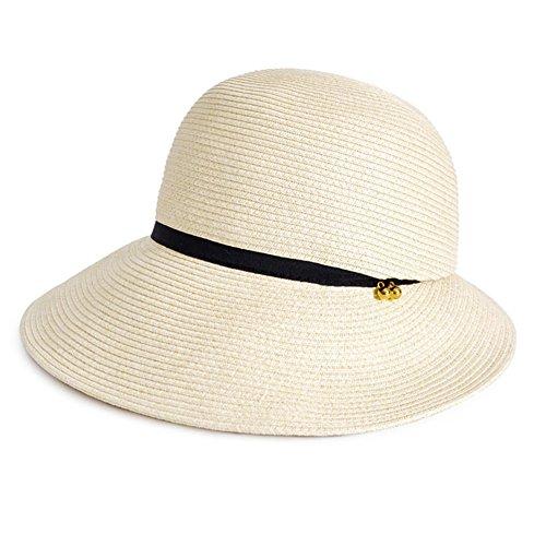 WYYY Chapeau Dame Chapeau De Soleil Pliable Irrégulier Fabriqué À La Main Côté Large Protection Contre Le Soleil (Couleur : Beige)